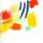 Ölkreide auf Papier, 2011, 110 x 100 mm