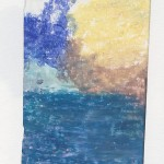 Ölkreide auf Papier 2010, 65 x 95 mm