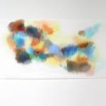 Buntstift auf Transparentpapier, o.T., 2012, 154 x 64 cm