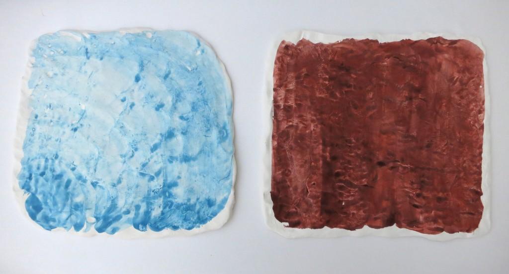 Pigment und Glasur auf Porzellan, o.T. 2013