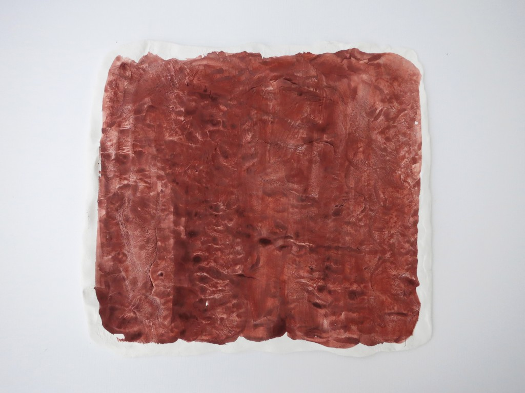 Glasur auf Porzellan, o.T. 2013, 27 x 25 cm