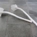 Porzellan, zweiteilig 2011, 470 x 150 x 100 mm und 410 x 110 x 90 mm