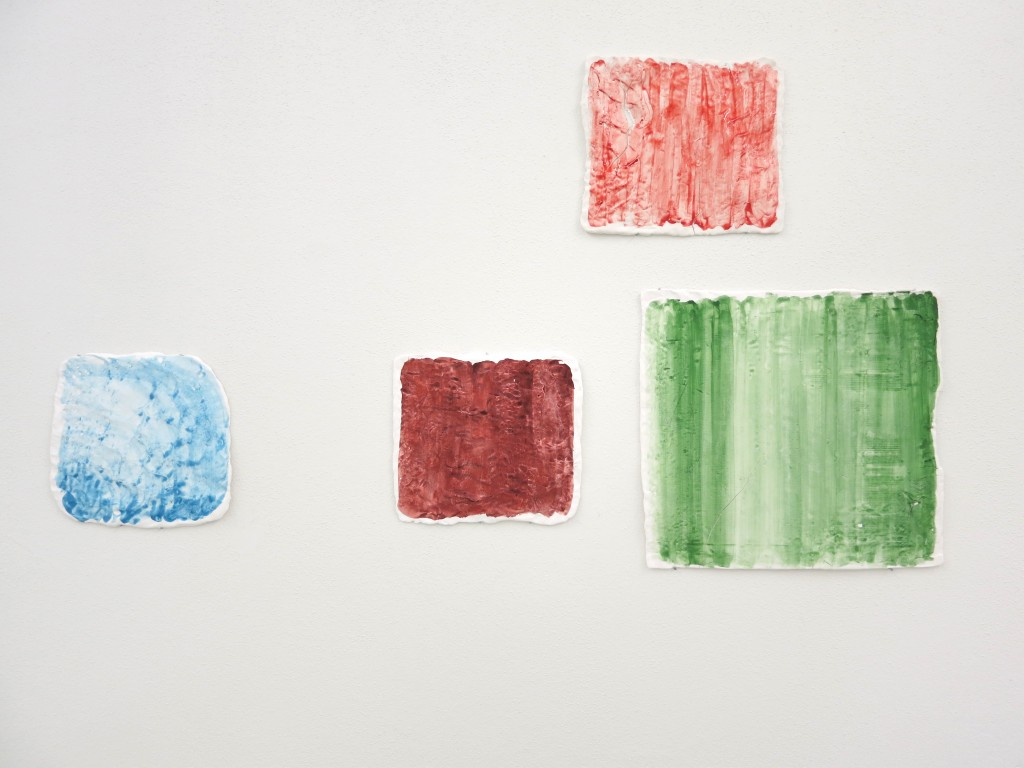 Pigment und Glasur auf Porzellan, 133 x 78 cm, Diplomausstellung AdBK München, 2013