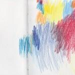 Zeichenbuch Frühjahr 2013, Bild 2, Buntstift auf Papier, 34 x 16 cm