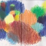 Zeichenbuch Frühjahr 2013, Bild 25, Buntstift auf Papier, 34 x 16 cm