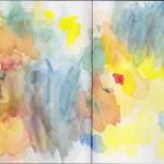 Zeichenbuch Frühjahr 2013, Bild 26, Aquarell auf Papier, 34 x 16 cm