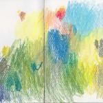 Zeichenbuch Frühjahr 2013, Bild 3, Buntstift auf Papier, 34 x 16 cm