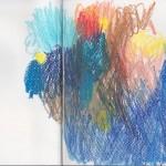 Zeichenbuch Frühjahr 2013, Bild 5, Buntstift auf Papier, 34 x 16 cm