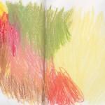 Zeichenbuch Frühjahr 2013, Bild 6, Buntstift auf Papier, 34 x 16 cm