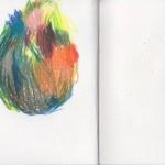 Zeichenbuch Frühjahr 2013, Bild 8, Buntstift auf Papier, 34 x 16 cm