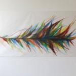 Buntstift und Wachskreide auf Transparentpapier 2013, 64 x 154 cm