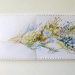 Ausschnitt 1 Leporello 2013, Filzstift (lichtecht) auf Tabellierpapier, 30,5 x 360 cm
