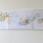 Ausschnitt 3 Leporello 2013, Filzstift (lichtecht) auf Tabellierpapier, 30,5 x 360 cm
