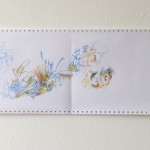 Ausschnitt 4 Leporello 2013, Filzstift (lichtecht) auf Tabellierpapier, 30,5 x 360 cm