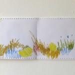 Ausschnitt 8 Leporello 2013, Filzstift (lichtecht) auf Tabellierpapier, 30,5 x 360 cm