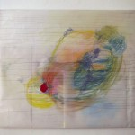 Zeichnung und Collage auf Leinwand, Februar 2014, 65 x 56 cm