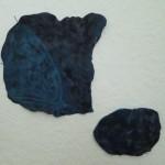 Cyanotypie auf Porzellan, 13 x 13,5 cm und 8,5 x 6 cm