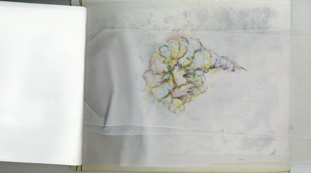 Buntstift auf Papier