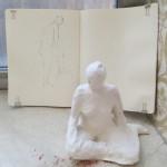 Skizzenbuch und ein Bozzetto